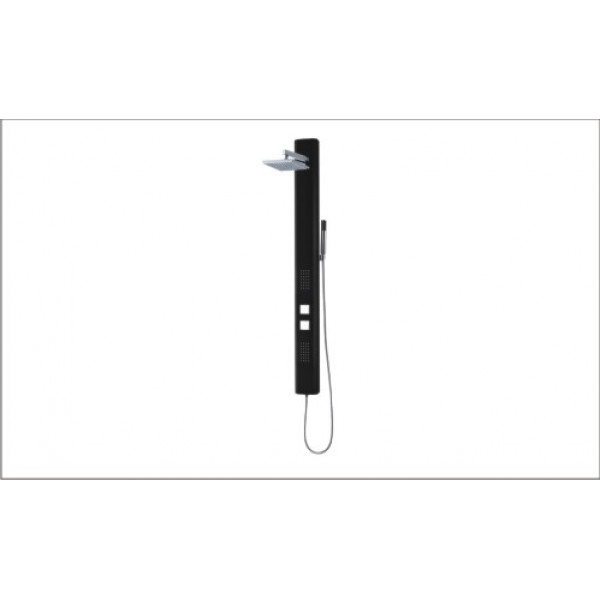 Coluna de banho Liz Preto 13 x 140 cm