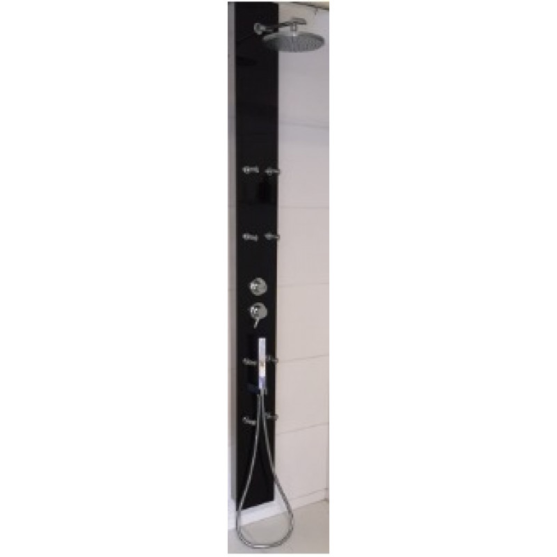 Coluna de banho Vita Preto 18,5 x 200 cm