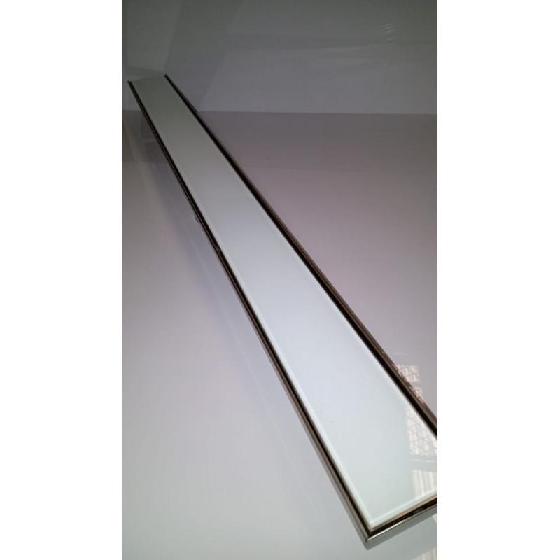 Ralo In line em Inox 100 x 9 x 7 cm Vidro temperado branco 6 mm