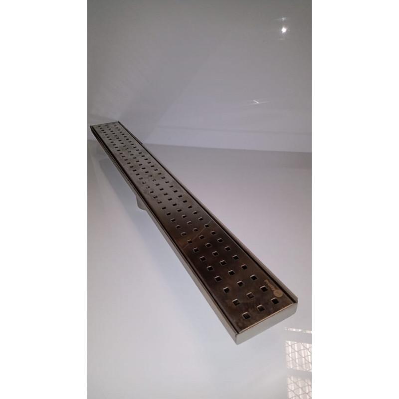 Ralo In line em Inox 100 x 9 x 7 cm Perfurado