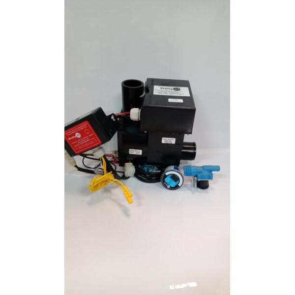 Kit Aquecedor Acoplado Bh (4000W para Botão) c/ controlador c/ válvula c/ botão
